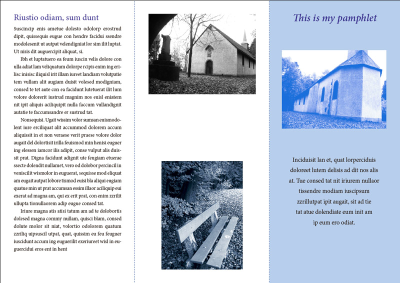 InDesign: Zweifarbiges Layout – Druckaufbereitung und Fallen – www ...