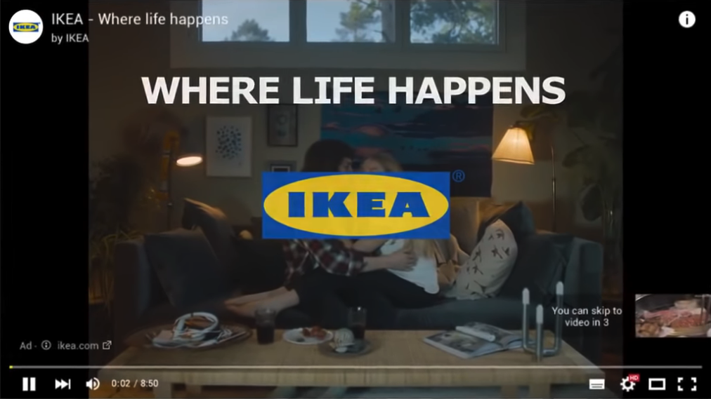 Ikea – Where Life happens Ad